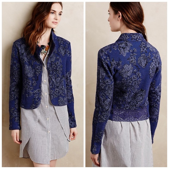 Anthropologie Jackets & Blazers - ANTHROPOLOGIE KNITTED & KNOTTED NIGHTSHADE JACKET